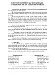 Giáo trình hình thành quy trình phân giải kỹ thuật phản hồi kết chuyển số dư đầu kỳ p1