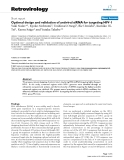 "Báo cáo y học: ""Optimal design and validation of antiviral siRNA for targeting HIV-1"""