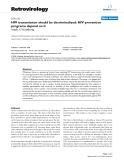 "Báo cáo y học: "" HIV transmission should be decriminalized: HIV prevention programs depend on it"""