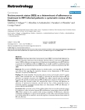 "Báo cáo y học: ""Socioeconomic status (SES) as a determinant of adherence to treatment in HIV infected patients: a systematic review of the literature"""
