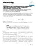 Retrovirology Short report  BioMed Central  Open Access  Immunotherapy with internally inactivated