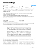 """Báo cáo y học: """"Nef does not contribute to replication differences between R5 pre-AIDS and AIDS HIV-1 clones from patient ACH142"""""""