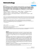 """Báo cáo y học: """" Reconstitution of the myeloid and lymphoid compartments after the transplantation of autologous and genetically modified CD34+ bone marrow cells, following gamma irradiation in cynomolgus macaques"""""""