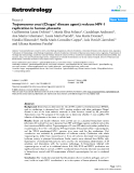 """Báo cáo y học: """"Trypanosoma cruzi (Chagas' disease agent) reduces HIV-1 replication in human placenta"""""""