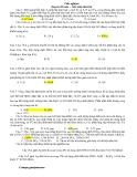 Trắc nghiệm chuyên đề toán - bảo toàn electron