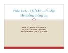 Bài giảng Phân tích, thiết kế và cài đặt hệ thống thông tin: Chương 8 - PGS.TS. Đặng Minh Ất