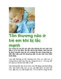 Tổn thương não ở trẻ em khi bị lắc mạnh
