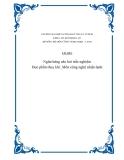 Ngân hàng câu hỏi trắc nghiệm: Học phần thủy khí_Môn công nghệ nhiệt-lạnh