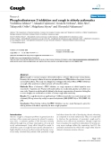 "Báo cáo y học: ""Phosphodiesterase 3 inhibition and cough in elderly asthmatics"""