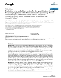 """Báo cáo y học: """"Evaluation of an ambulatory system for the quantification of cough frequency in patients with chronic obstructive pulmonary disease"""""""