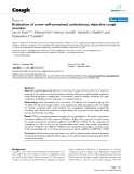 """Báo cáo y học: """"Evaluation of a new self-contained, ambulatory, objective cough monitor"""""""