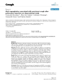 """Báo cáo y học: """"Acid regurgitation associated with persistent cough after pulmonary resection: an observational study"""""""