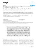 """Báo cáo y học: """"Analysis and evaluation of environmental tobacco smoke exposure as a risk factor for chronic cough"""""""