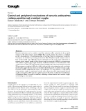 """Báo cáo y học: """" Central and peripheral mechanisms of narcotic antitussives: codeine-sensitive and -resistant coughs"""""""