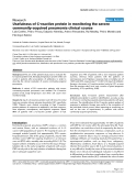 "Báo cáo y học: ""Usefulness of C-reactive protein in monitoring the severe community-acquired pneumonia clinical course"""