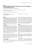 """Báo cáo y học: """"Bench-to-bedside review: Leadership and conflict management in the intensive care unit"""""""