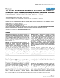 """Báo cáo y học: """"The risk for bloodstream infections is associated with increased parenteral caloric intake in patients receiving parenteral nutrition"""""""
