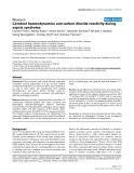 """Báo cáo y học: """"Cerebral haemodynamics and carbon dioxide reactivity during sepsis syndrome"""""""