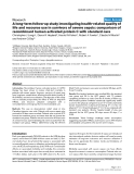 """Báo cáo khoa học: """" A long-term follow-up study investigating health-related quality of life and resource use in survivors of severe sepsis: comparison of recombinant human activated protein C with standard care"""""""