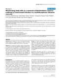 "Báo cáo khoa học: ""Moisturizing body milk as a reservoir of Burkholderia cepacia: outbreak of nosocomial infection in a multidisciplinary intensive care unit"""