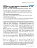 "Báo cáo y học: "" Introduction of Medical Emergency Teams in Australia and New Zealand: a multi-centre study"""