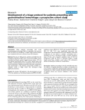 """Báo cáo y học: """"Development of a triage protocol for patients presenting with gastrointestinal hemorrhage: a prospective cohort study"""""""