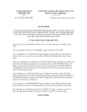 Quyết định số 1572/2011/QĐ-UBND