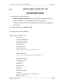 Thực hành tính kết cấu công trình STAAD.PRO 4 - Bài 1