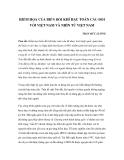 HIỂM HỌA CỦA BIẾN ĐỔI KHÍ HẬU TOÀN CẦU ĐỐI VỚI VIỆT NAM VÀ NHÌN TỪ VIỆT NAM