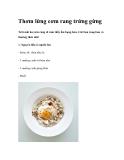 Thơm lừng cơm rang trứng gừng