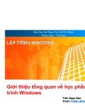 Lập trình windows - Giới thiệu tổng quan về lập trình  Windows