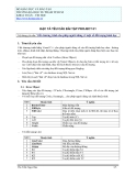 ĐẶC TẢ YÊU CẦU BÀI TẬP PROJECT 01 - VIẾT CHƯƠNG TRÌNH CHO NGƯỜI DÙNG