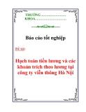 Luận văn: Hạch toán tiền lương và các khoản trích theo lương tại công ty viễn thông Hà Nội