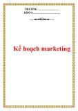 Bài báo cáo: Kế hoạch marketing
