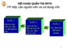 Bài giảng: Rủi ro trong hoạt động của ngân hàng_p8