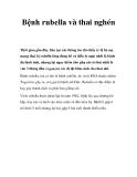 Bệnh rubella và thai nghén