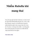 Nhiễm Rubella khi mang thai