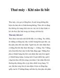 Thai máy - Khi nào là bất