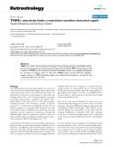 "Báo cáo y học: ""TRIM5α selectively binds a restriction-sensitive retroviral capsid"""
