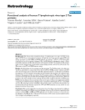 "Báo cáo y học: "" Functional analysis of human T lymphotropic virus type 2 Tax proteins"""