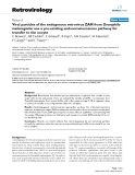 """Báo cáo y học: """" Viral particles of the endogenous retrovirus ZAM from Drosophila melanogaster use a pre-existing """""""