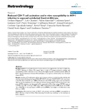 """Báo cáo y học: """"  Reduced CD4 T cell activation and in vitro susceptibility to HIV-1 infection in exposed uninfected Central Africans"""""""