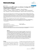 "Báo cáo y học: "" First report of an HIV-1 triple recombinant of subtypes B, C and F in Buenos Aires, Argentina"""