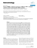 """Báo cáo y học: """"  Human TRIM5α mediated restriction of different HIV-1 subtypes and Lv2 sensitive and insensitive HIV-2 variants Patrick Kaumanns, Isabel Hagmann and Matthias T """""""