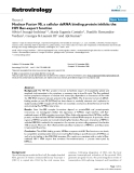 """Báo cáo y học: """" Nuclear Factor 90, a cellular dsRNA binding protein inhibits the HIV Rev-export function"""""""