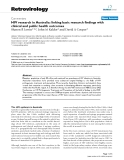 """Báo cáo y học: """" HIV research in Australia: linking basic research findings with clinical and public health outcomes"""""""
