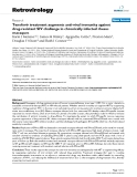 """Báo cáo y học: """"  Tenofovir treatment augments anti-viral immunity against drug-resistant SIV challenge in chronically infected rhesus macaques"""""""