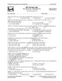 Đề thi thử môn: Hóa học - Đề 005