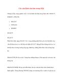 Các câu lệnh căn bản trong SQL