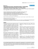 """Báo cáo y học: """"Recombinant human activated protein C attenuates endotoxin-induced lung injury in awake sheep"""""""